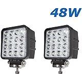 """2 W 48 X 4,3"""" work light 4560LM lumière de travail de LED peut être utilisé comme feu-route feu-croisement et un faisceau de brouillard avant et arrière pour véhicules etc 4 X 4 camion Tracteur bateau véhicules industriels 12 V 24 V"""
