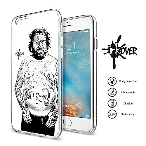 Cover iPhone 6 / 6S PLUS - INKOVER - Custodia Cover Protettiva Guscio Soft Case Bumper Trasparente Sottile Slim Fit Tpu Gel Morbida INKOVER Design Pirati Pirates Corsaro Teschio SKULL per APPLE iPhone FAMOUS 6