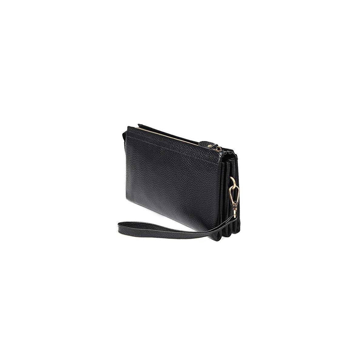 51vkThu45gL. SS1200  - Bolso de cuero del negocio de la cartera larga del negocio de la cartera del cuero del lichi del embrague de la capa superior de los hombres