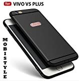 MOBISTYLE 360 Degree Soft Silicone With Anti Dust Plugs Shockproof Slim Back Cover For VIVO V5 PLUS (BLACK WITH SHINING LINE)