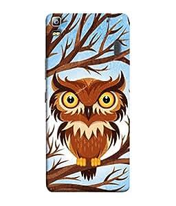 PrintVisa Owl in The Tree 3D Hard Polycarbonate Designer Back Case Cover for Lenovo A7000 :: Lenovo A7000 Plus :: Lenovo K3 Note