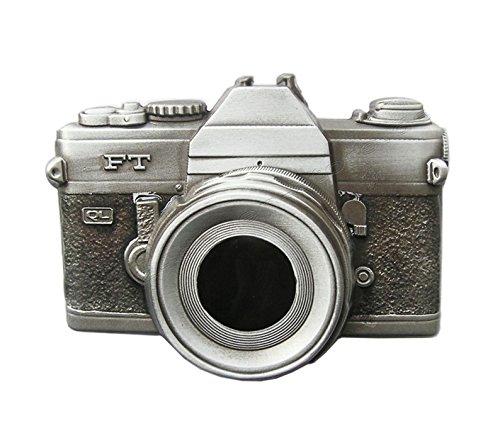 Preisvergleich Produktbild Gürtelschnalle Kamera Foto Fotoapparat Retro 3D Optik für Wechselgürtel Gürtel Schnalle Buckle Modell 121 - Schnalle123