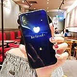 NUOCAI Coque iPhone 7 Coque/iPhone 8 Coque de Protection arrière à LED