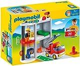 Rubie's-déguisement officiel - Playmobil - Jeu de Construction  Caserne de Pompiers-...