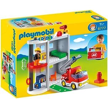 Playmobil - 6777 - Jeu de Construction - Caserne de Pompiers