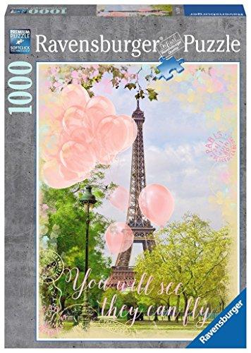 (Ravensburger 19708 Luftballons am Eiffelturm, Erwachsenenpuzzle)