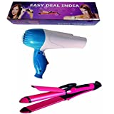 Easy Deal India COMBO OF STRAIGHTENER CURLER OR DRYER (MULTI COLOR)