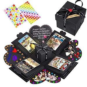 NEUFLY Überraschung Box, Kreative DIY Faltendes Fotoalbum Handgemachtes Scrapbook Geschenk Explosion Box für Geburtstag…