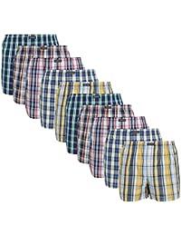 Lower East American Style Boxershorts, Mehrfarbig Große Karos), XX-Large (Herstellergröße: 2XL), 10er-Pack