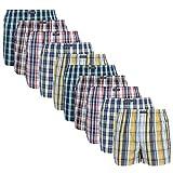 Lower East American Style Boxershorts, Mehrfarbig Große Karos), Medium (Herstellergröße: M), 10er-Pack