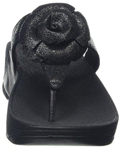 FitFlop Glitterosa, Open-back femme Black (All Black)