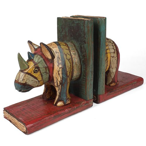 fair-trade-handcrafted-rustic-rhino-wooden-bookends