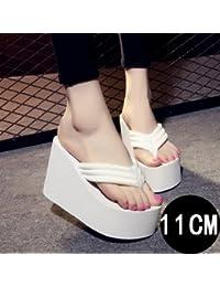 Koreanische Version des neuen Super hochhackigen Sandalen und Hausschuhe Frau Sommer Hang mit flip-flops Strand...