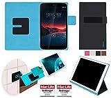 reboon Custodia per Vodafone Smart Tab 4G | in Nero | Cover Case Caso Multifunzionale