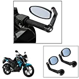 #6: AutoStark Motorycle Bar End Mirror Rear View Mirror Oval For Yamaha Fzs-Fi