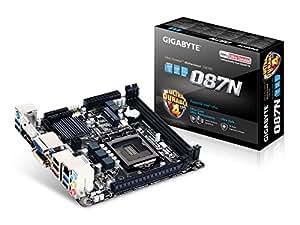 Gigabyte GA-Q87N (rev. 1.1) Intel Q87 LGA 1150 (Socket H3) Mini ITX carte mère - cartes mères (DDR3-SDRAM, DIMM, 1333,1600 MHz, Dual, 1.5 V, 16 Go)