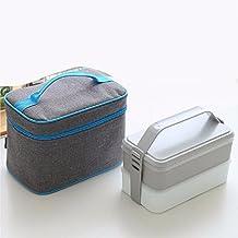 BBSLT Japonés simple doble capa loncheras, horno de microondas pueden ser climatizada lonchera, loncheras de plástico capas,A
