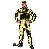 Sträfling Kostüm Ganove Schwerverbrecher Outfit L 52 Verbrecher Häftlingskleidung JGA Sträflingskostüm Karnevalskostüme Herren Junggesellenabschied Alcatraz Psycho Verbrecherkostüm Häftlingskostüm Gefangener
