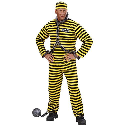 Sträfling Kostüm Ganove Schwerverbrecher Outfit L 52 Verbrecher Häftlingskleidung JGA Sträflingskostüm Karnevalskostüme Herren Junggesellenabschied Alcatraz Psycho Verbrecherkostüm Häftlingskostüm - Schwerverbrecher Kostüm