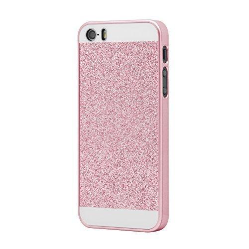 iProtect Custodia protettiva paillettes - effetto in rosa - Apple