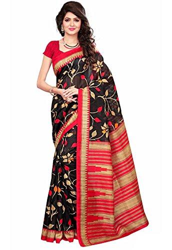 Ishin Mysore Art Silk Black & Red Printed Party Wear Wedding Wear Casual Wear Festive Wear New Collection Latest...