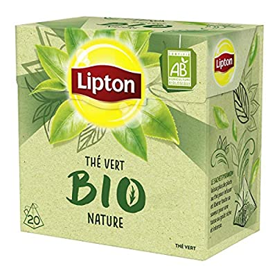Lipton Bio Thé Vert Nature Label Rainforest Alliance