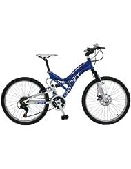 """Bicicleta de montaña para niños de entre 10 y 12 años STRONG-24DD, cuadro 24"""" Acero, suspensión aluminio, cambio SHIMANO TX-35 21Velocidades, bielas de acero, frenos de disco"""