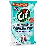 CIF Set de 120 Lingettes Nettoyantes Multi Usages Antibactériennes