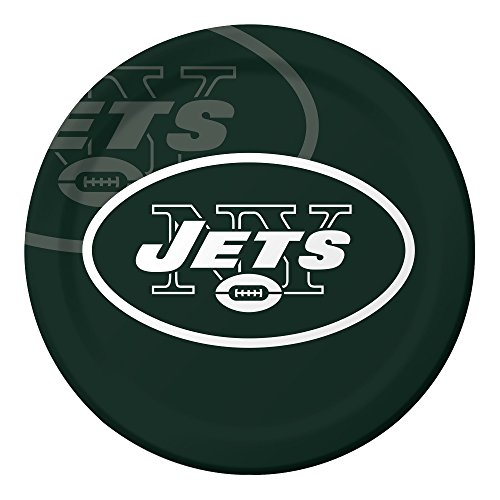 Creative Converting NFL Papierschüssel, offizielles Lizenzprodukt, 8 Stück, 570 ml, New York Jets Dinner Plates