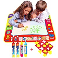 Magic Wasser Doodle Malmatte Für Kinder 80CMx60M,TQP-CK 4 Farben Doodle Matte zum Bemalen mit 4 Wasser Doodle Stifte