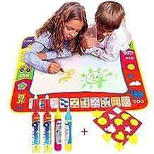 TQP-CK Doodle del Aqua Niños 'Toy Juguetes Dibujo Mat Magic Pen Educativa 1 Mat + 4 Wate