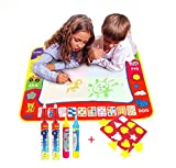 TQP-CK Doodle del Aqua Niños 'Toy Juguetes Dibujo Mat Magic Pen Educativa 1 Mat + 4 Wate