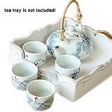 Kleine nette Jingdezhen Handgemalte Japanese White And Blue-Blumen-Keramik Teekanne Teeset