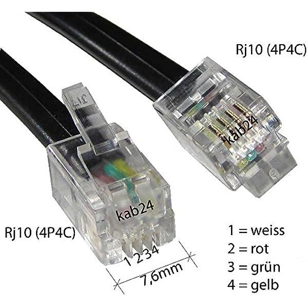 Kab24 Modularkabel Rj10 Stecker Auf Rj10 Stecker Elektronik