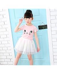 Morbuy Ropa de Niñas, Niñas Niños Gato Lindo Camiseta + Vestido de Fiesta de Princesa