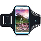 Miger iPhone 7/7 Plus Movement Armband, Fingerprint Touch Supported Gym Running Workout/Exercise Arm Band Case for iPhone 6/6S/7/7 Plus with Key/Card Holder (black, 5.5)