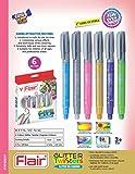 #5: Flair Glitter Twister Gel Crayons 6 Colour Set