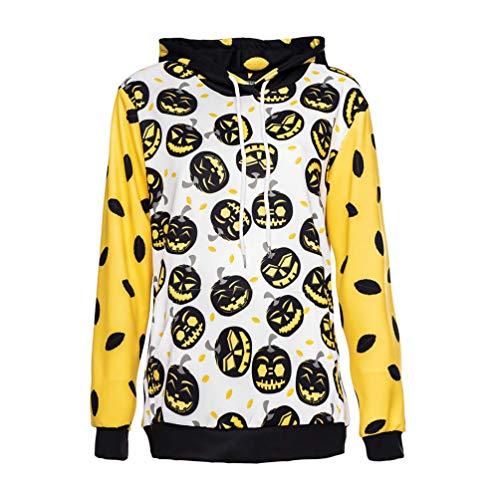 Xinwcang Unisex Männer Halloween Kostüm Adult Lange Ärmel Druck Hoodie Sweatshirt Pullover ()