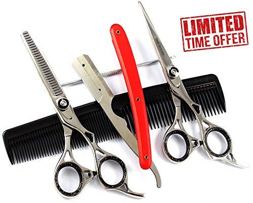 super-spar-angebot-2-x-berufshaar-scissors-set-micro-interlocked-effilierschere-friseurscheren-set-f