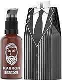 Bartöl Kabron für Männer zur Bartpflege - Beard Oil - Made in Germany mit Jojobaöl - Unverwechselbarer Bartöl Duft - 50ml Bart-Öl für die Bartpflege - 100% Vegan und Alkoholfrei - Geschenk für Männer