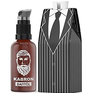 Bartöl Kabron für Männer zur Bartpflege – Beard Oil – Made in Germany mit Jojobaöl – Unverwechselbarer Bartöl Duft – 50ml Bart-Öl für die Bartpflege – 100% Vegan und Alkoholfrei – Geschenk für Männer