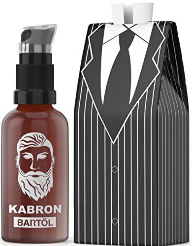 Bartöl Kabron für Männer zur Bartpflege - Beard Oil - Made in Germany mit Jojobaöl - Unverwechselbarer Bartöl Duft - 50ml Bart-Öl für die Bartpflege - 100% Vegan und Alkoholfrei - Geschenk für Männer -