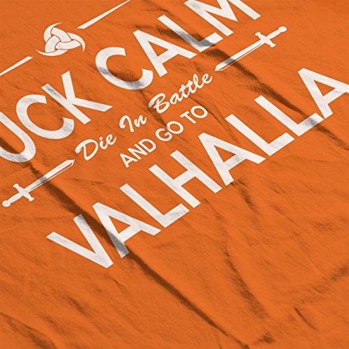 Viking Go To Valhalla Men's T-Shirt Orange