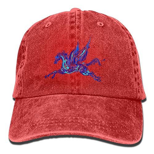 Nifdhkw Blue Pegasus Denim Hat Adjustable Men Stretch Baseball Hats Multicolor6