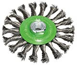 BOSCH Scheibenbürste, Edelstahl, gezopfter Draht, 0,5 mm, 115 mm, 12500 U/min, M 14, 2608622106