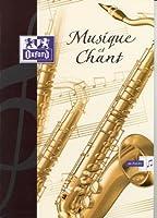 Oxford Scolaire 100101475 Cahier musique et chant agrafé 240X320 48 Pages 90 G