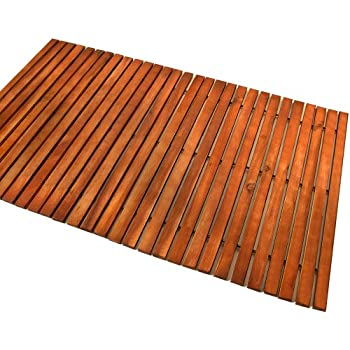 Wooden Shower Mat Bath Duckboard Hardwood Non Slipping
