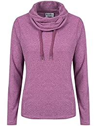 Mountain Warehouse Hebridean Womens Cowl Neck Fleece - Breathable, Antipill Fabric, Brushed Inner & Two Front Pockets – Perfect For Everyday Use