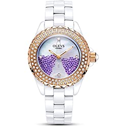 Lady ceramic/French romantic watches/Simple casual watches-F