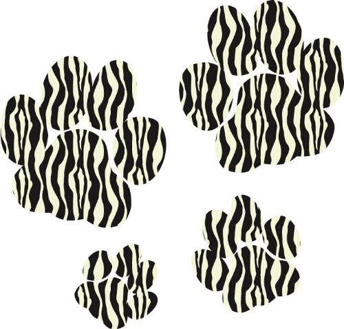 Stickers Zèbre Imprimé pattes